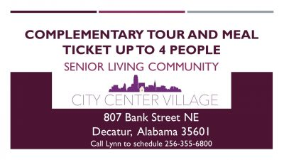 Complimentary Tour and Meal Ticket